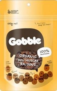 Gobble Organic Sun Muscat Raisins 100g