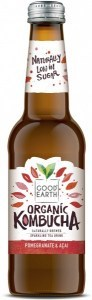 Good Earth Organic Kombucha Pomegranate & Acai 12x330ml