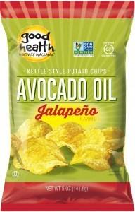 Good Health Avocado Oil Potato Chips Jalapeno G/F 142g