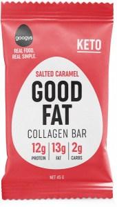 Googys Good Fat Keto Salted Caramel Collagen Bars  45g