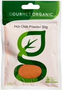 Gourmet Organic Chilli Hot Powder 30g Sachet x 1