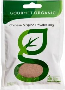 Gourmet Organic Chinese 5 Spice Powder 30g Sachetx1
