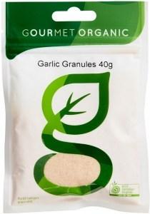 Gourmet Organic Garlic Granules 40g Sachet x 1