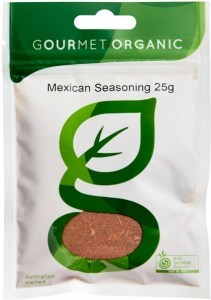 Gourmet Organic Mexican Seasoning 25g Sachet