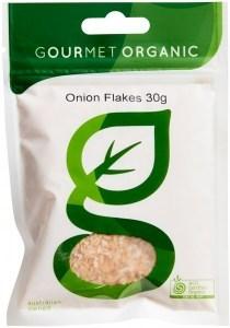 Gourmet Organic Onion Flakes 30g Sachet
