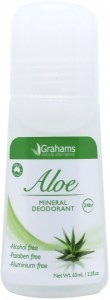 Grahams Aloe Mineral Deodorant Roll On 65ml