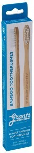 Grants Bamboo Toothbrush 2-pack Adult Medium