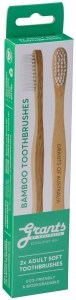 Grants Bamboo Toothbrush 2-Pack Adult Soft