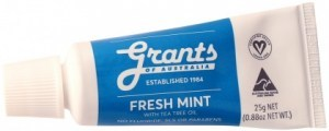 Grants Natural Toothpaste Fresh Mint Travel Size 25g
