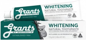 Grants Natural Whitening Toothpaste w/Baking Soda & Spearmint 110g