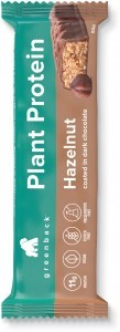 Greenback Plant Protein Hazelnut Coated in Dark Chocolate Bar 12x50g