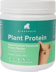 Greenback Plant Protein Salted Caramel Protein Powder 400g