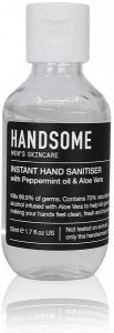 Handsome Men's Organic Skincare Hand Sanitiser Cap Bottle 50ml