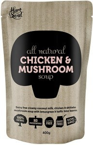 Hart & Soul All Natural Chicken & Mushroom Soup in Pouch 400g