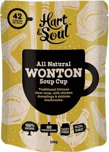 Hart & Soul All Natural Wonton Soup Cup Sachet 100g