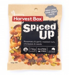 Harvest Box Spiced Up Nuts (Rosemary & Garlic Roasted Nuts & Seeds) G/F 45g