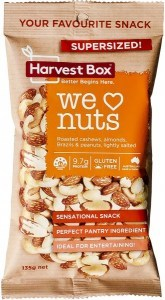 Harvest Box We Love Nuts Snack   Value Bag 135g