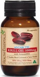 Healthy Essentials Antartic Krill 1000mg 30s Caps