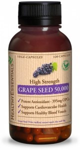 Healthy Essentials Grape Seed 50000mg 120 Caps