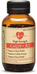 Healthy Essentials High Strength CoQ10 + K2 100caps