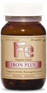 Healthy Essentials Organic Iron Plus 30caps