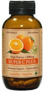 Healthy Essentials Super Vitamin C Plus Chewable 150tabs