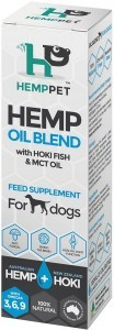 Hemp Pet Hemp Oil Blend with Hoki Fish & MCT Oil Feed Supplement for Dogs 100ml