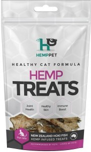 Hemp Pet New Zealand Hoki Fish Hemp Infused Treats for Cats 70g