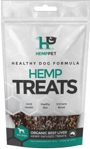 Hemp Pet Organic Beef Liver Hemp Infused Treats for Dogs 80g