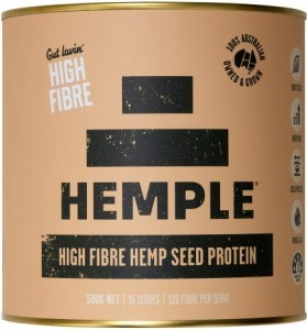 Hemple Gut Lovin High Fibre Hemp Seed Protein 500g