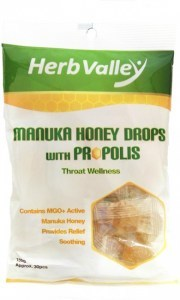Herb Valley Manuka Honey Drops with Propolis Lozenges (30Pcs)150g