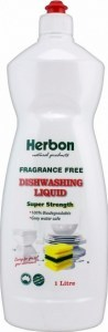 Herbon Fragrance Free Dishwashing Liquid 1L