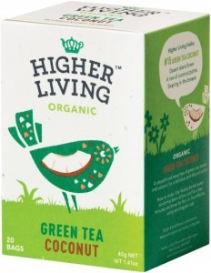 Higher Living Organic Green Tea Coconut 20Teabags