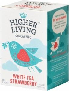 Higher Living Organic White Tea Strawberry 20Teabags
