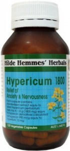 Hilde Hemmes Hypericum ( St Johns Wort ) - Anxiety & Nervousness Relief 1800mg x 120caps