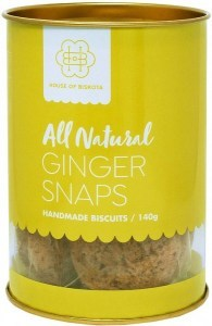 House of Biskota All Natural Ginger Snaps Biscuits  140g