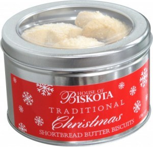 House of Biskota Traditional Christmas Shortbread Butter Biscuits 120g