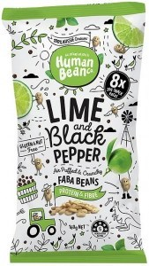 Human Bean Co Lime & Black Pepper Multipack (8x20g) Faba Beans  160g FEB21