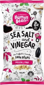 Human Bean Co Sea Salt & Vinegar Multipack (8x20g) Faba Beans G/F 160g