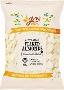 JC's Australian Almond Flakes 100g
