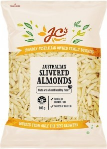 JC's Australian Slivered Almonds 100g