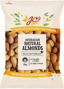 JC's Natural Australian Almonds 150g