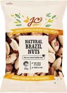 JC's Natural Brazil Nuts 175g
