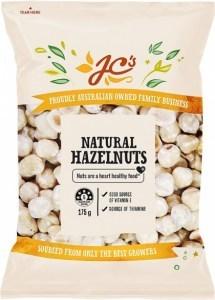 JC's Natural Hazelnuts 175g