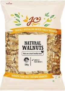 JC's Natural Walnuts 150g
