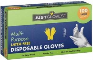 Just Gloves Multi-Purpose Disposable Gloves Large 100 Pk