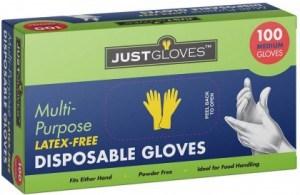 Just Gloves Multi-Purpose Disposable Gloves Medium 100 Pk