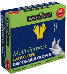 Just Gloves Multi-Purpose Disposable Gloves Medium 24 Pk