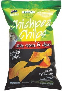 K&S Chickpea Chips Sour Cream & Chives 175g