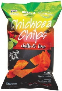 K & S Chickpea Chips Sweet Chilli & Lime 175g
